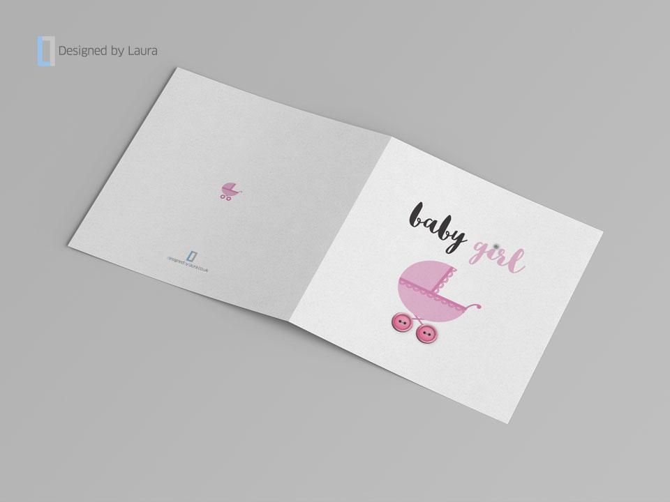 handmade baby girl card