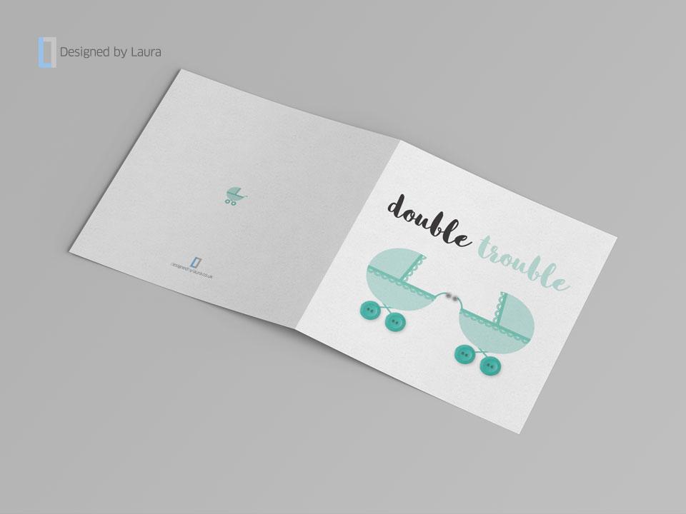 handmade twins card