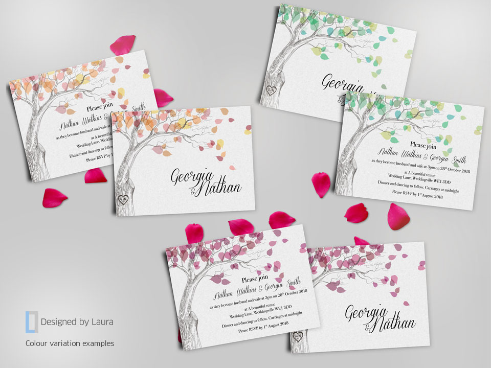 handmade matching wedding stationery